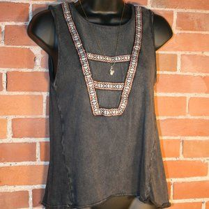 Ecote by Urban Outfitters Tribal + Mesh Tank Top